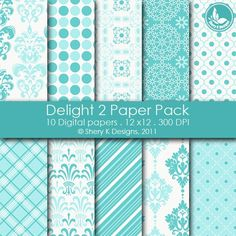 Delight 2 Paper Pack 10 Digital papers 12 x12 by SheryKDesigns