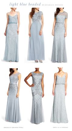 5d4b96bceef Light Blue Mix and Match Bridesmaid Dresses. Embellished Bridesmaid ...