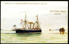 "https://flic.kr/p/8Vjxwx | French Tradecard - Chinese Warship ""Hai-Yung"" 