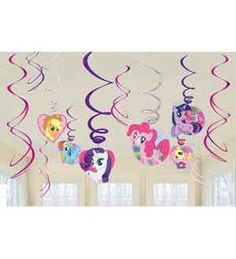 My Little Pony Swirl Decorations Valuepack | 12ct for $4.93 in My Little Pony - Children's Birthday - Birthday
