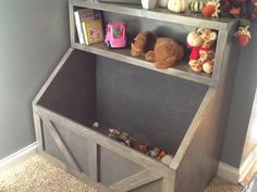 Farmhouse toys - Wood toy chest I Wood storage I toy storage I wood toy bin storage I farmhouse toy bin – Farmhouse toys Toy Storage Solutions, Diy Toy Storage, Wood Storage, Storage Bins, Storage Ideas, Large Toy Storage, Tv Stand Toy Storage, Playroom Storage, Playroom Ideas