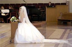 Custom Handmade 1 2 or 3 Tier Cathedral Veil Bridal by megsveils