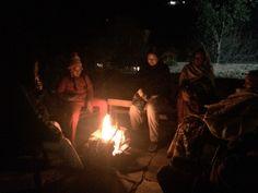 Bonfire at Writers Retreat