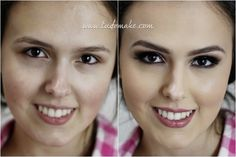 Antes e depois de maquiagem - maquiagem bordô - burgundy