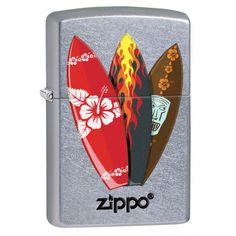 Zippo Lighter: Surfboards - Street Chrome 78210 (