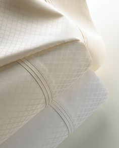 Marcus Collection Diamond Jacquard Sheet Sets by Matouk at Horchow.
