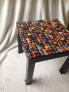 Bottle Cap Table by MexiCrafting on Etsy, $75.00