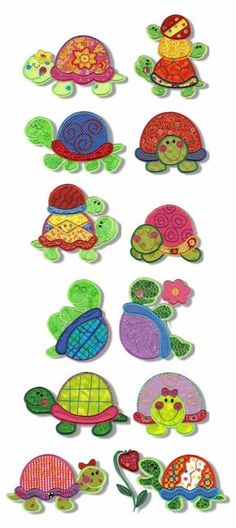 Embroidery | Machine Embroidery Designs | Totally Turtles Applique by Lorna Chapman