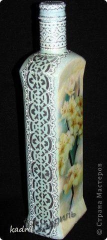 Декор предметов Декупаж Роспись Всего понемногу Пусть вам пригодятся идеи Бутылки стеклянные фото 1