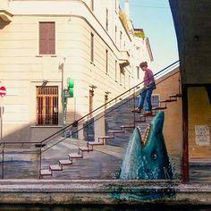 GNAM! :-) Dal naviglio pavese Street Art by Marco Teatro #milanodavedere foto di : @sara91moh Milano da Vedere