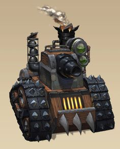 Gnome Tank by Brolo on DeviantArt Warcraft Art, World Of Warcraft, Steampunk Armor, Steampunk Mechanic, Prop Design, Fantasy Images, Robot Art, War Machine, Dieselpunk
