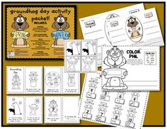 GROUNDHOG DAY Activity Packet: (Reader/Book, My shadow/no shadow prediction pictures, Sight word color page, Science brace map: real groundhogs, and Math composing/decomposing page.) $