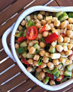 Chickpea Salad with Lemon Dressing #healthy #chickpea #salad