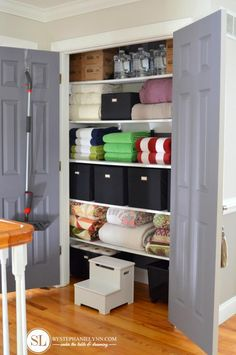 68 Ideas Linen Closet Organization Diy Products For 2019 Small Closet Storage, Coat Closet Organization, Closet Shelves, Diy Organization, Medicine Organization, Organizing Tips, Shoe Storage, Bathroom Closet, Closet Bedroom