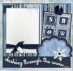 Winter scrapbook page idea