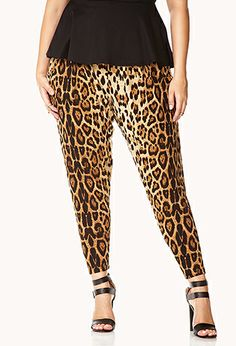 Run Wild Leopard Harem Pants | FOREVER21 PLUS - 2000075082