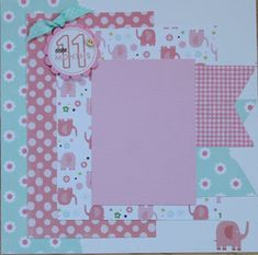 Project Ideas for Echo Park - Bundle of Joy New Addition Collection - Girl - 12 x 12 Cardstock Stickers - Elements Baby Girl Scrapbook, Baby Scrapbook Pages, Scrapbook Page Layouts, Album Scrapbook, Kids Pages, Photo Layouts, Crafty, Prints, Handmade