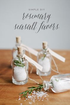 DIY rosemary seasalt favors & free lables | Best Day Ever