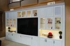 Custom entertainment centers can maximize your living room and provide a modern and sophisticated new look to the most heavily-used room in the home.