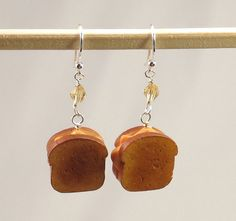 Miniature Grilled Cheese Sandwich Earrings
