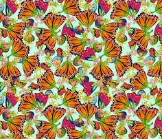 Floral Fantasy fabric by glimmericks on Spoonflower - custom fabric