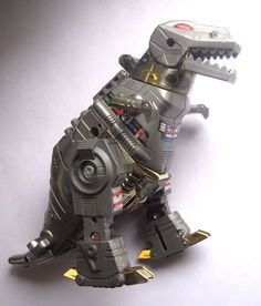 rare vintage 1980's g1 grimlock dinobot transformers toy - 1985 hasbro figure from $45.0