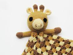 Giraffe Lovey - CROCHET PATTERN - blankey $4.50, via Etsy.