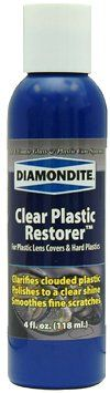 Diamondite Clear Plastic Headlight Restorer, 4 oz - 3 Pack Very fine grade finishing glaze. Restores the shine and optical clarity to polished headlight lens covers and other hard plastics. Use after applying Diamondite Clear Plastic Enhancer. 4 oz. 3 Pack.  #Diamondite #AutomotivePartsAndAccessories