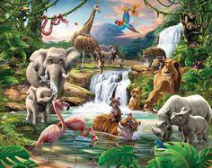 Kindertapete Dschungel für attraktives Kinderzimmer
