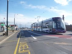 New Bombardier Tram on first day of operation on Fylde Coast, April 4th 2012. Fleetwood Ferry.