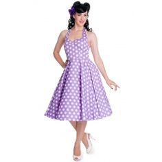 Mariam Dress in Lavender by Hell Bunny