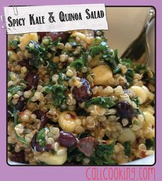 Spicy Kale and Quinoa Salad with Sweet Corn, Avocado, and Black Beans - CaliCooking.com | Healthy Recipes Inspired by the California Lifestyle
