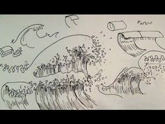 Pen & Ink Drawing Tutorials | How to draw ocean waves❤️ How to draw like an artist Art Ed Central