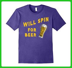 Mens Will Spin for Beer Funny Spin Class Shirt for Beer Drinkers 3XL Purple - Food and drink shirts (*Amazon Partner-Link)