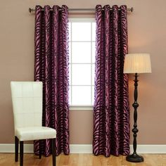 Best Home Fashion Zebra Print Grommet Curtains - KC_09_ZEBRA-CHOCO