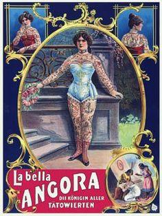 Vintage Venus: Vintage Tattooed Ladies of the Circus & Sideshow. La Bella Angora. c.1905.