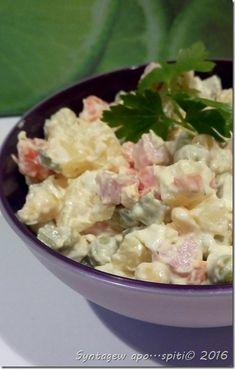 Russian salat Greek Recipes, Potato Salad, Recipies, Food And Drink, Thanksgiving, Ethnic Recipes, Fitness, Crafts, Diy
