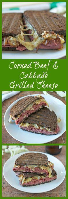 Corned Beef and Cabbage Grilled Cheese Sandwich from Well Plated by Erin