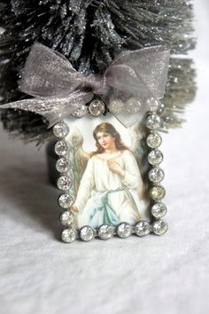 Christmas ornament angel ornament tree ornament by mysweetmaison