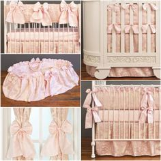 This gorgeous nursery collection is called the Royal Duchess from Bratt Decor.  See this and more beautiful bedding, furnishings & decor at brattdecor.com