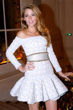 Blake Lively attends a presentation for L'Oreal Paris on Oct. 29, 2013, in Paris, France. Getty Images -Cosmopolitan.com