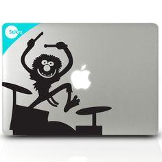 Muppets Animal Drum Set- Apple Laptop computer Geekery - Decal 18. $9.98, via Etsy.