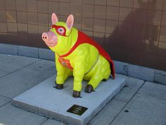 """Pigs in the City"" of Lexington, NC"