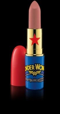 Wonder Woman lipstick by MAC...I have to get some of this stuff.