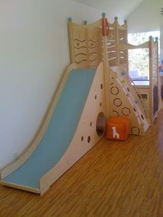 Cedar Works Play Set And Wood Grain Soft Floor Tile.