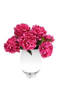 "Hot Pink Peonies in Silver - 18"" x 19"" by Spring: Designer Floral Arrangements on @HauteLook"