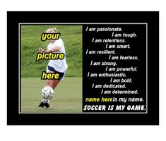Motivational 'soccer is my game' quote. Personalize this poster with your own picture and name. Perfect gift idea for any aspiring soccer player. #soccer #giftidea #personalized Soccer Motivation, Motivation Wall, Personalized Posters, Personalized Wall Art, Motivational Wall Art, Inspirational Wall Art, Soccer Poster, Game Quotes, Inspiration Wall