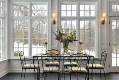 Dining Room Extra Large Windows Design Ideas, Pictures, Remodel and Decor