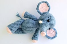 PATTERN : Elephant Amigurumi Elephant pattern-Crochet por Anatillea