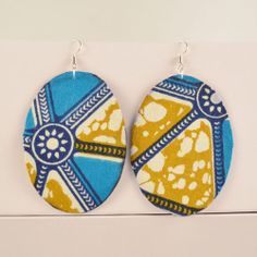 I've always loved African wax print cloth so I dig these earrings.  See more at  easystyleformoms.com.